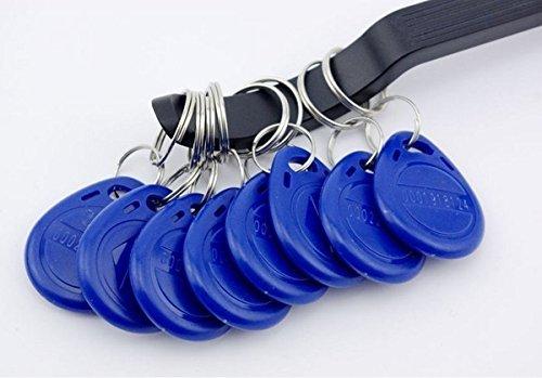 20pcs EM 41004102 125Khz RFID Proximity ID Keychains Token Tags Key Fobs Blue