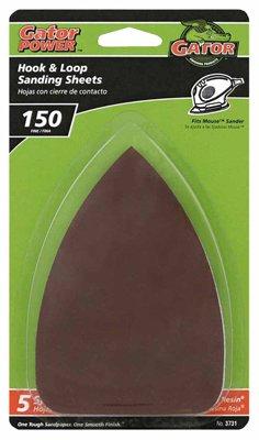 Ali Industries 3731 Detail Sanding Sheets Aluminum Oxide 150-Grit 35 x 5-In 5-Pk - Quantity 5