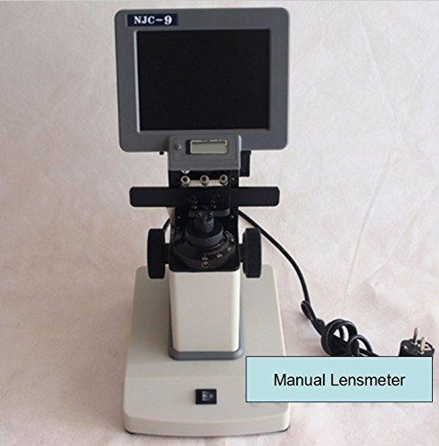 Manual Lensmeter Handheld Portable Lensometer Focimeter Optometry Machine 5 Screen NJC-9