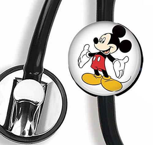 Mickey Mouse Stethoscope TagSteth ID TagNurse Doctor Stethoscope ID Tag