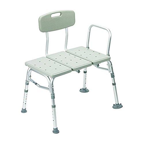Drive Medical Three Piece Transfer Bench Gray