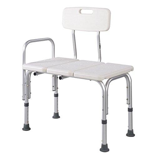 Giantex Shower Bath Seat Medical Adjustable Bathroom Bath Tub Transfer Bench Stool Chair