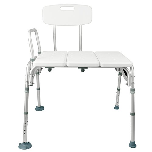 Tub Transfer Bench by Vive - Bath Shower Transfer Bench - Adjustable Handicap Shower Chair - Medical Bathroom Accessibility Aid for Elderly Disabled Seniors Bariatric