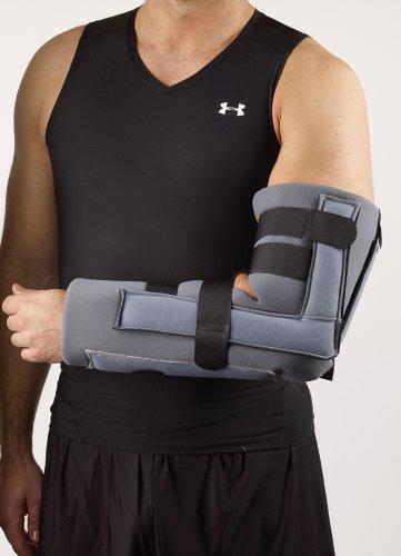 Corflex Elbow Immobilizer Brace - Elbow Fracture Splint-LXL - Charcoal