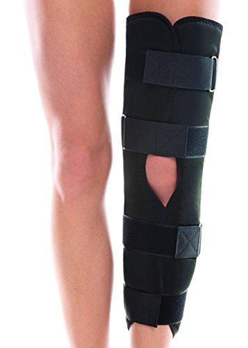 TOROS-GROUP Tri-Panel Knee Immobilizer Brace – Girth Of Knee 14 - 15 - Height 23½  X-Small Black