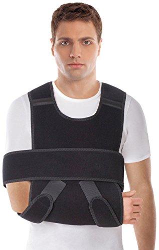 UFEELGOOD Arm Shoulder Immobilizer Brace - Regular Black