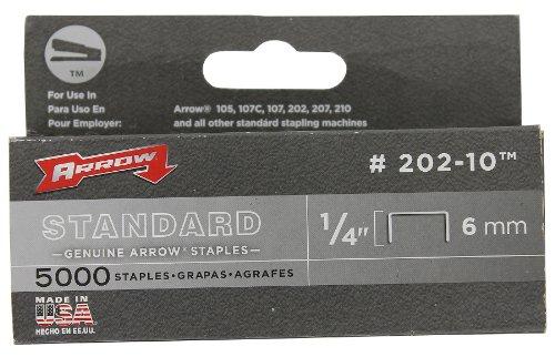 Arrow Fastener 202-10 Genuine 14-Inch 6mm Standard Staples 5000-Pack