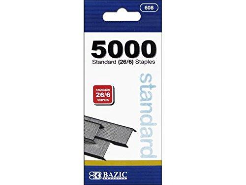 BAZIC 5000 Ct Standard 266 Staples