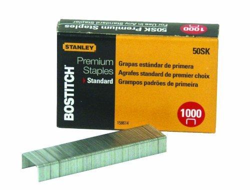 Bostitch Premium Standard Staples 025 Inch Leg Quarter-Strips Mini 1000 Per Box 50SK 2-Pack