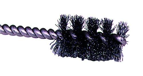 Weiler Round Power Tube Brush Steel Round Shank Single Stem 1-14 Diameter 0008 Wire Diameter 14 Shank 2000 rpm Pack of 1
