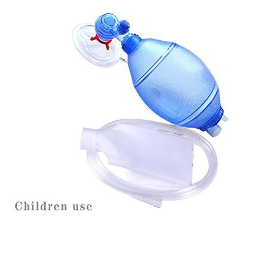 WSN Oxygen Mask CPR Training Bag Valve Mask AdultChild Size in Plastic Carry Case Medical Supply PVC Tubing Reservoir BVM BagC