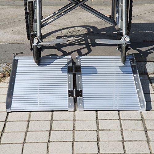 GHP Aluminum alloy 600lbs Capacity Mobility Wheelchair Threshold Ramp