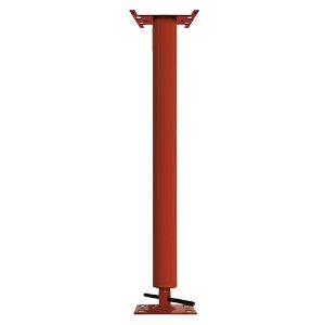 Adjustable Steel Building Column 3 OD 11 Gauge 4 Adjustment Range For use with Steel Beams