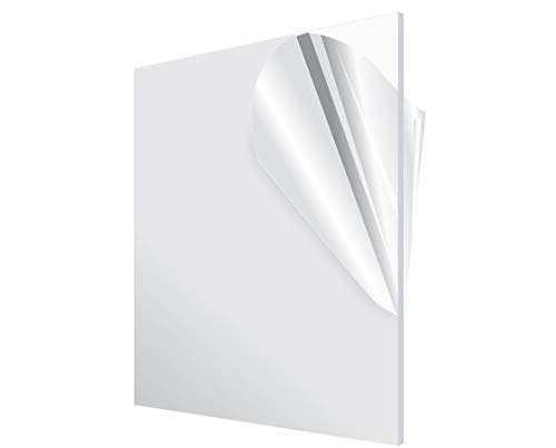 Acrylic Plexiglass Plastic Sheet 12 x 24 x 48 Clear