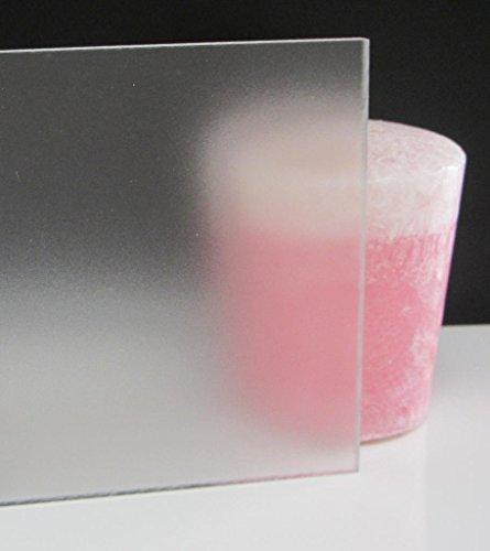 Falken Design 4 x 4 - 14 0236 P95 - One Side Clear Satin Frost - Matte Finish Acrylic SheetPlexiglass Lucite