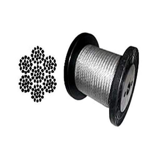 Cable Railing Type 316 Stainless Steel Wire Rope Cable 147x19 Coil Reel 100 ft Coil