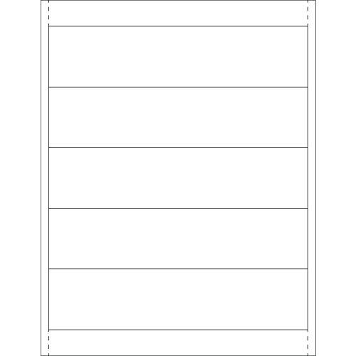 Tape Logic TLLH253 Plastic Label Holder Insert Cards 1 78 x 8 White Pack of 250