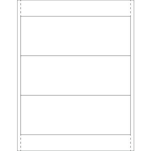 Tape Logic TLLH256 Plastic Label Holder Insert Cards 2 78 x 8 White Pack of 150