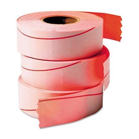 Garveyampreg One-Line Pricemarker Labels 716 x 1316 Fluorescent Red 1200Roll 3 RlsBox