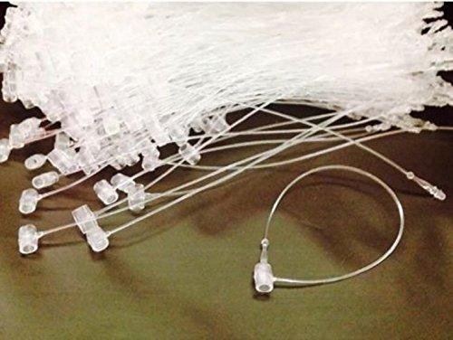 LIKE SHOP 100 Pcs 5 Snap Lock Pin Security Loop Plastic Tag Fasteners Tagging Manual