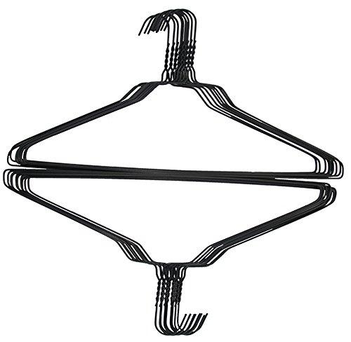100 Black Wire 18 Standard Shirt Hangers 145 Gauge
