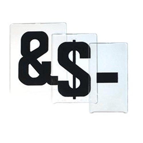 Black Gemini Sign Letters ADM Font Punctuation Set of 6 Changeable Sign Symbols on 6-78 Panels
