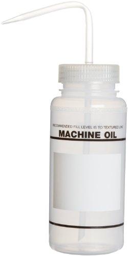 Bel-Art Safety-Labeled 2-Color Machine Oil No Diamond Wide-Mouth Wash Bottles 500ml 16oz Polyethylene wNatural Polypropylene Cap Pack of 6 F11646-0459