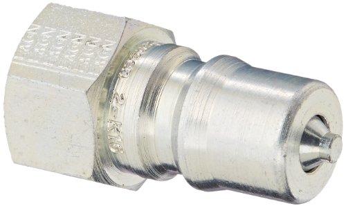 Eaton Hansen 2K16118 Steel ISO-B Interchange Hydraulic Fitting Plug with Valve 14-18 NPTF Female 14 Body Neoprene Seal