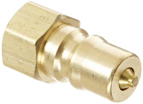 Eaton Hansen B2K16118 Brass ISO-B Interchange Hydraulic Fitting Plug with Valve 14-18 NPTF Female 14 Body Neoprene Seal