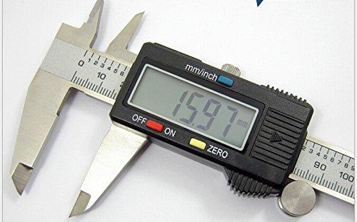 150mm6inch LCD Digital Electronic Gauge Stainless Steel Vernier Caliper Ruler