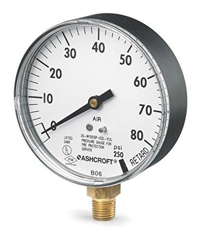 Pressure Gauge 0 to 80 psi 3-12In 14In