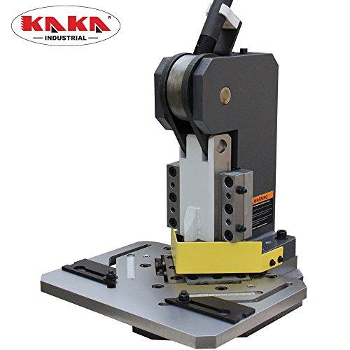 "KAKA Industrial HN3-102 Sheet Metal Notcher 4""x4"" Blade Length 90 Degree Right Angel Metal Notcher Heavy Duty 11-Gauge Mild Steel Capacity"
