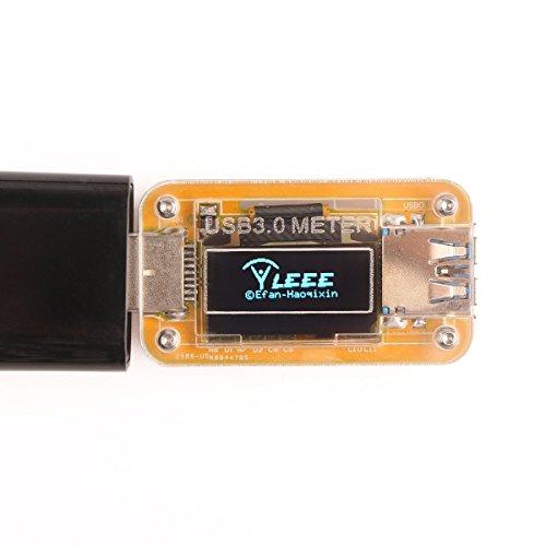 DROK Mini OLED USB Charger Detector Current Voltage Power Capacity Multimeter Amp Volt Measuring Watt Meter DC 5V 10V 2A