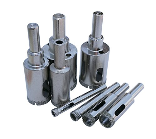 Tile Hole Saw Glass Hole Saw Diamond Tip Hole Saw Drill Bit Set For Glass Porcelain Tile Ceramic Drill Hole In Glass Tile Pack Of 8 6-30mm