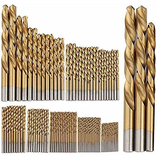 99 PCS 15mm-10mm HSS Twist Drill Bit Set Titanium Coated Plastic Wood Metal Drill Bits Set