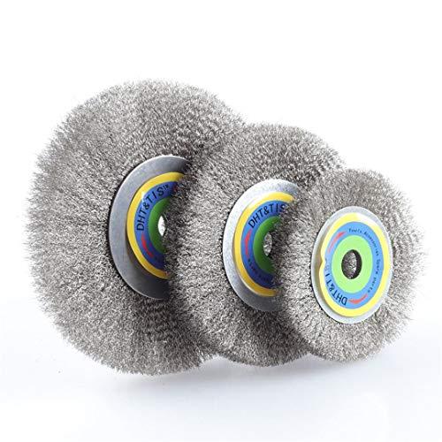 456 015Mm Stainless Steel Wire Wheel Brush Metal Derusting Polishing Deburring 16MM Inner 4Inch