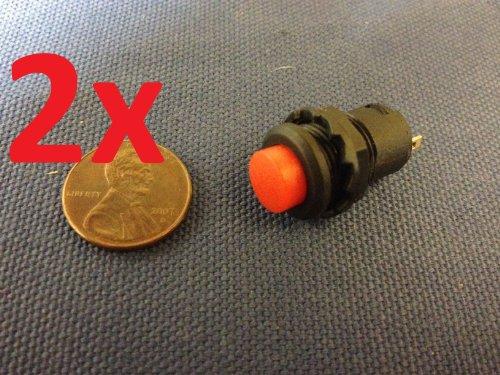 2x 12v Red Self-locking Push Button Switch Latching Onoff C7