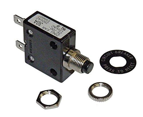 Philmore 30 Amp Push Button Circuit Breaker 32V DC or 250V AC  B7030