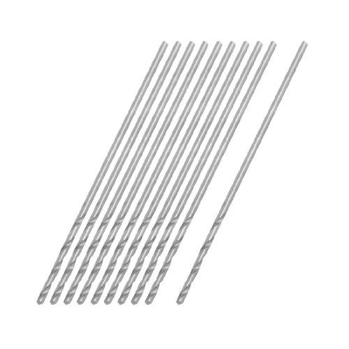 uxcell 075mm Dia Micro HSS Straight Shank Twist Drill Bit 10 Pcs