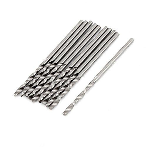 uxcell 10 Pcs 13mm Diameter Straight Shank Twist Drill Bit End Mill 38mm