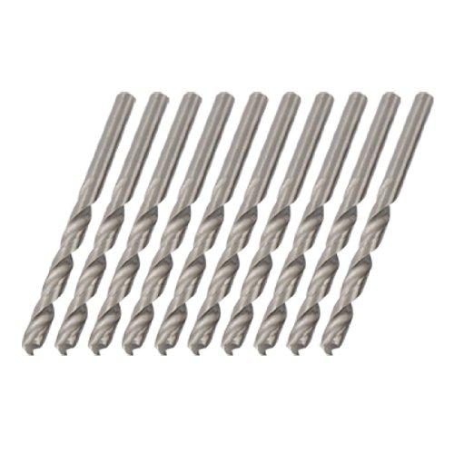 uxcell 57mm Metal HSS Straight Shank Twist Drill Bits 10pcs