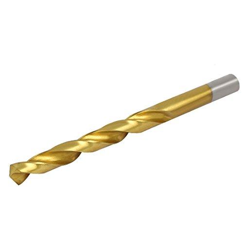 uxcell 99mm Drilling Dia Titanium Plated 2 Flutes Straight Shank Twist Drill Bit