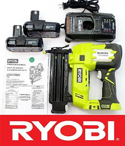 Ryobi 18 Volt Air Strike 58-2 Brad Nailer P320  2 Batteries P102  Charger P118