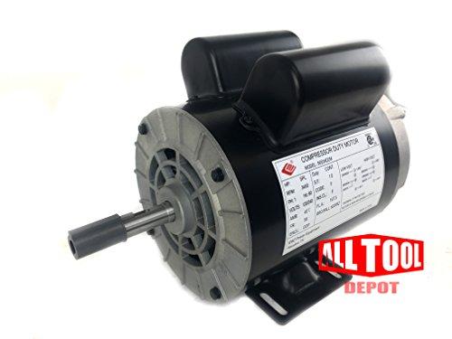 2 HP SPL 3450 RPM 56 Frame 120240V 1575Amp 58 Shaft Single Phase NEMA Air Compressor Motor - EM-02
