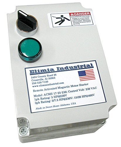 Elimia Air Compressor Motor Starter Single Phase 5 HP 230V 1 Phase Nema 4X 23-32 Amp Overload Made in USA