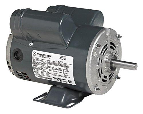 Marathon Electric  Regal Beloit - 184TBDW7001 - 7-12 HP Air Compressor Motor Capacitor-StartRun 3515 Nameplate RPM 208-230 Voltage Frame 184T