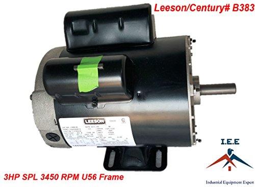 New 3 HP 3450 RPM Air Compressor 60 Hz Electric Motor 115-230 Volts Century B383