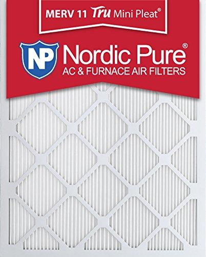 Nordic Pure 16x24x1M11MiniPleat-3 Tru Mini Pleat MERV 11 AC Furnace Air Filters 3 Pack 16 x 24 x 1