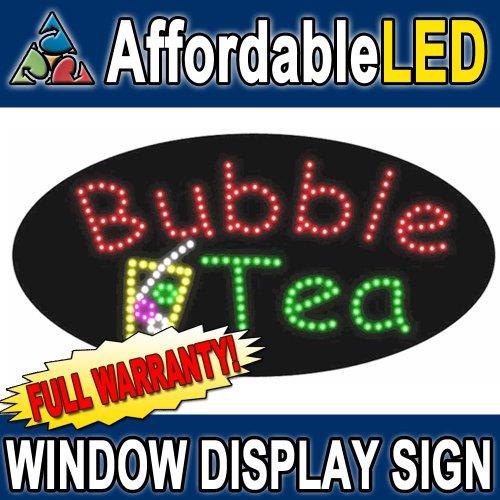 Bubble Tea LED Window Display Sign Size 15H X 27L X 1D