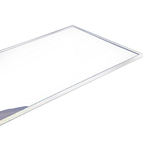 Cast Acrylic Sheet 24-Inchx12-Inchx025-Inch Clear 1-Sheet for CosmeticsAquariumWindowDisplay RackSignsLight BoxesTelephone Booth
